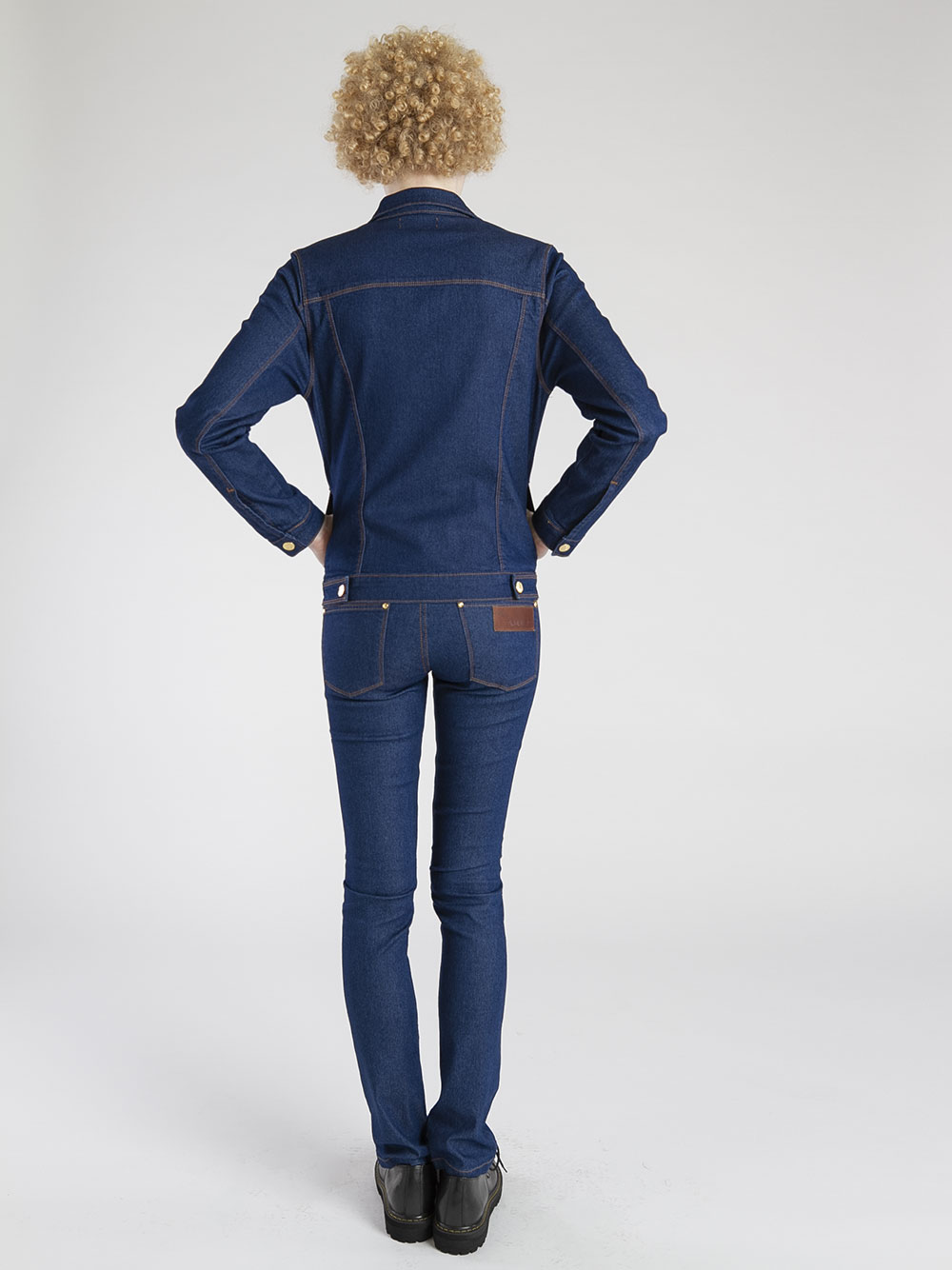 jaqueta jeans escuro