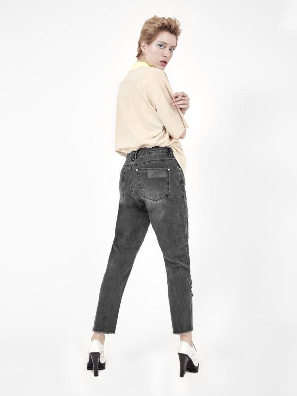 jeans boyfriend preto