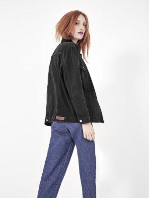 jaqueta jeans oversized preta